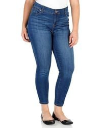 Celebrity Pink Mid Rise Ankle Skinny Jeans - Blue
