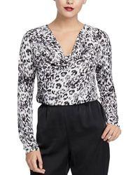 RACHEL Rachel Roy Axel Leopard Top - Black