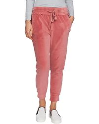 1.STATE Velour Jogger Sweatpants - Red