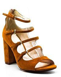 Cole Haan Cielo Suede Block Heel Sandals - Brown