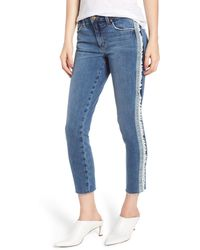 Joe's Crop Tuxedo-stripe Jeans - Blue