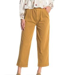Free People - Seamed Like The Real Belted Pants - Lyst