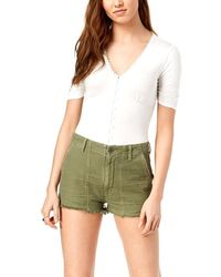 Citizens of Humanity - Meghan Frayed Cotton Shorts - Lyst