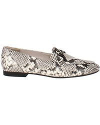 Paul Green Bailey Snake-embossed Apron-toe Loafers - Multicolor