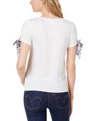 Maison Jules Croissant Tie-sleeve T-shirt - White