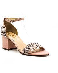 Callisto Nessa Suede Block Heel Sandals - Multicolor