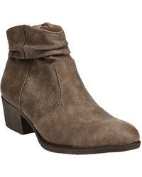 White Mountain Uptown Block-heel Ankle Booties - Brown