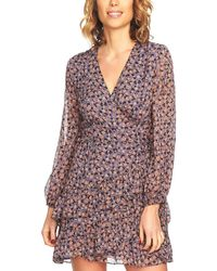 1.STATE Ruffled Faux-wrap Dress - Multicolor