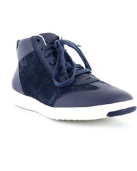 Cole Haan Grand Pro High-top Sneakers - Blue