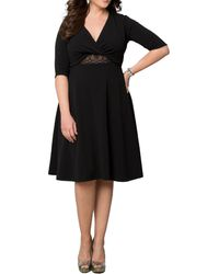 Kiyonna - Peek-a-boo Perfection Dress - Lyst