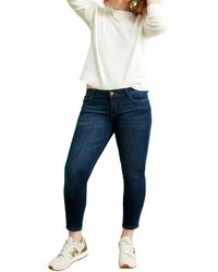 Warp & Weft Jfk - Crop Skinny Jeans - Blue