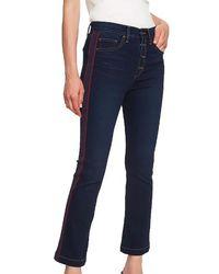 1.STATE - Essentials High Rise Mini Kick Flair Jeans - Lyst