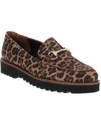 Paul Green Nandi Leopard Print Platform Loafers - Brown