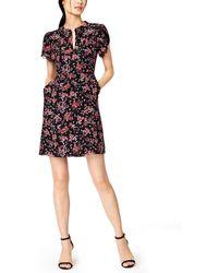 Nanette Lepore Floral-print Shift Dress - Black