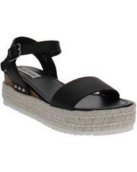 Steve Madden Chiara Flatform Espadrille Sandals - Black