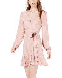 LEYDEN Wrap Dress - Pink