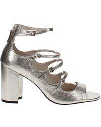 Cole Haan Cielo Block Heel Sandals - Metallic
