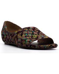 Naturalizer Lucie Brocade Flat Sandals - Brown
