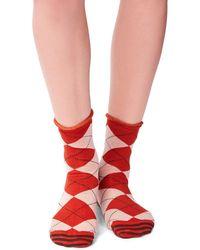 Free People Emmet Anklet Socks - Metallic