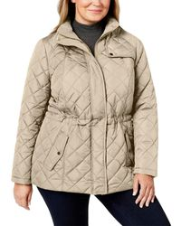 Charter Club Quilted Zip-front Jacket - Natural