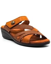 Easy Street Feature Flat Sandals - Brown