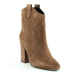 Aerosoles Lincoln Square Western Ankle Boots - Brown