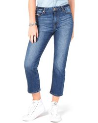 Celebrity Pink Cropped Straight-leg Jeans - Blue