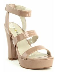 Seven Dials Neat Platform Dress Sandals - Natural
