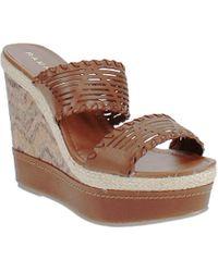 Rampage Bayda Wedge Sandals - Brown