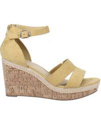 Easy Street Tarrah Wedge Sandals - Yellow