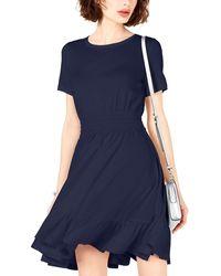 Bar Iii Fit And Flare Mini Dress - Blue