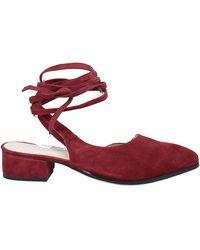 RAYE Kaye Ankle Wrap Mules - Red