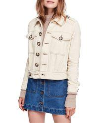 Free People Eisenhower Denim Jacket - White