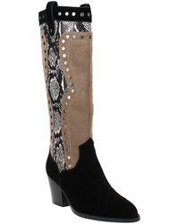 COACH Payton Western Boots - Black