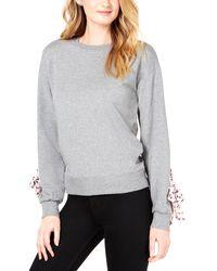 Maison Jules - Contrast Tie-sleeve Sweatershirt - Lyst