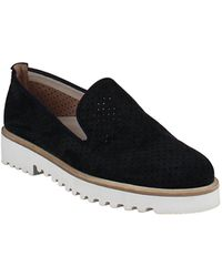 Paul Green Cailey Perforated Platform Loafers - Black