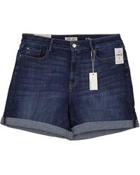 Warp & Weft Lis - Boyfriend Shorts - Blue