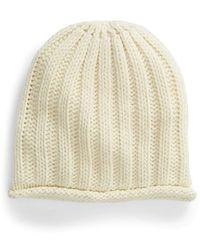 Free People Rory Rib Knit Beanie - White