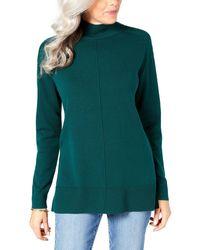 Karen Scott Fancy Checked Shirt - Green