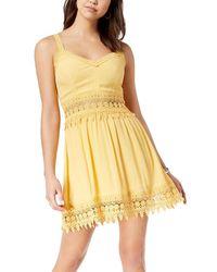 American Rag Cie Crochet-trim Dress - Yellow