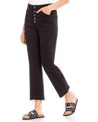 Free People Dylan High-rise Bootcut Jeans - Black