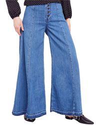 Free People Wide Leg Jeans - Blue