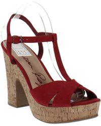 American Rag Jamie1 Block Heels - Red