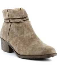 White Mountain Uptown Block Heel Ankle Boots - Natural