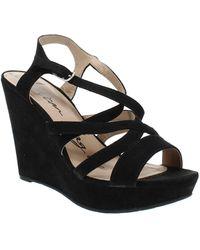 American Rag Arielle Wedge Sandals - Black