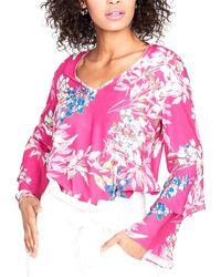 RACHEL Rachel Roy Ruffled-sleeve Top - Pink