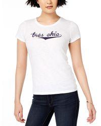 Maison Jules Graphic-print T-shirt - White