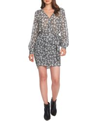 1.STATE Wild Blooms Wrap Dress - Gray