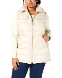 Charter Club Faux Fur Quilted Vest - Natural