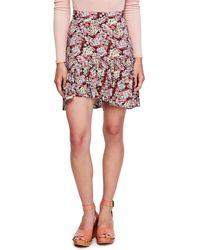 Free People Nadia Floral-print Ruffle-hem Skirt - Multicolor